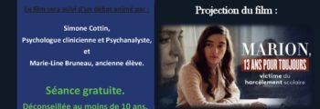 Ciné Débat «le Harcèlement scolaire» Le Theil sur Huisne